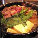 6681752 - 牛肉すき焼きうどん定食 800円