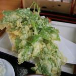 千両 - 料理写真:明日葉天ぷら