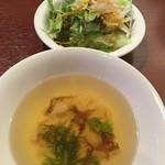 66814303 - スープとサラダ