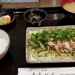 直ちゃん - 2017/5/3 日向鶏タタキ風定食