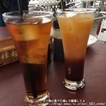 レストランフリアンディーズ - ウーロン茶&カシスオレンジ