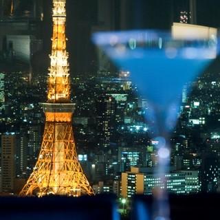 東京タワー真正面でこだわりのお酒が楽しめます。