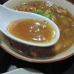 夢の郷 - カレー南蛮うどんのスープ
