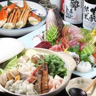 【お得!】海鮮コース料理なのにこの内容+更に飲み放題付き!