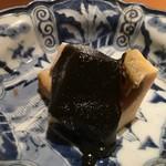 鮨 行天 - 鮑と肝ソース