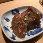 鮨 行天 - 鮪腹皮 炙り