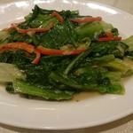 66825678 - 油麦菜の腐乳炒め。家じゃムリな味。