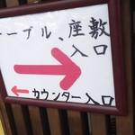 ごはん処 藤井堂 - ←カウンター入口   テーブル、座敷入口→(2017.05.09)