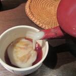 野饗 - 蕎麦湯はかなり濃厚
