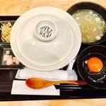 立喰い焼肉 治郎丸 - 鬼牛丼+濃厚生たまご(980円)