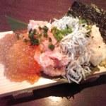 Tokyo Rice Wine - こぼれ寿司ハーフ880円