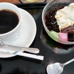 緑茶処両国茶ら良 - セットのコーヒー