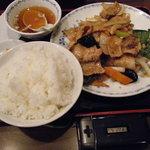 みんみん - 肉野菜炒め定食ご飯大盛り