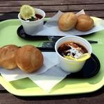 ファーストフード DELI - 料理写真:ビーフシチューポット&本日のパン(700円)