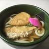 西竹食堂 - 料理写真:きつねうどん(*'ω'*)450円 美しすぎるビジュアル
