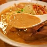 麺屋 極鶏 - 極鶏 鶏だく(スープ)