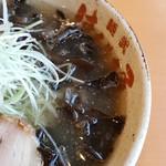 麺武 はちまき屋 - キクラゲトッピング♪