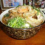 そば八 - 料理写真:野菜天そば 400円+大盛 100円