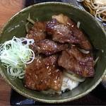 蕎麦 脇本 - 飛騨牛ミニステーキ丼