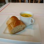 ラ・メール・プラール - パンとかぼちゃスープ