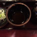 島彦本店 - 天丼セットのざるそばのつゆ