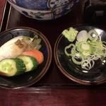 島彦本店 - 香の物 + 薬味