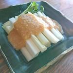 手打ち蕎麦 やの志ん - うどの酢みそあえ     ¥480