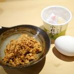 66854059 - 鶏そぼろ・納豆・玉子