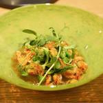 Point - 桜海老のジュレと色々な豆