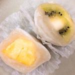 福田屋 - フルーツ大福  断面   フルーツ大きいよ(^^)