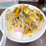 濃厚タンメン三男坊 - 濃厚タンメン(¥700)。タンメンというと、あっさり塩スープが普通だが、こちらはこってり系の豚骨なんです