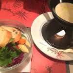 イルキャンティ - バーニャカウダのソースを温めながら食べます