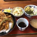 66866090 - 野菜天丼そばセット