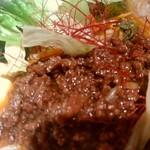 陳麻家 - 【2017.5.10(水)】冷し担々麺(並盛)710円の挽き肉