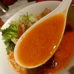 陳麻家 - 【2017.5.10(水)】冷し担々麺(並盛)710円のスープ