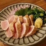 ビア ドリット - 但馬高原鶏の炙りたたき