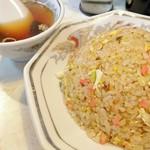 餃子の王さま - ぱらしと炒飯と、あーこれこれ、これだよねぃ!となる味わいのスープね~