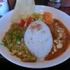がねいしゃ - 料理写真:カレー2種のあいがけプレート(バターチキンカレーとキーマカレー)