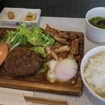スミヤキ エビス - 「アグー豚と佐賀牛のハンバーグ(200g)」(980円)。