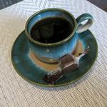 スミヤキ エビス - ランチには食後のコーヒーまでついてます。