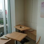 nanas green tea - 眺望あり  ちょっと広めに 座りました