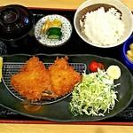 にしむら - アジフライ定食(1,350円)