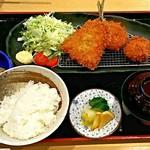 にしむら - ミックスフライ定食(1,650円)