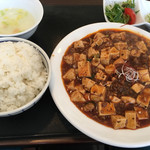 四川麻婆専家 辣辣 - 料理写真:ホルモン入麻婆豆腐セット