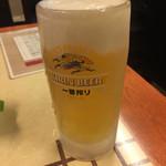 王豚足家 - 生ビール