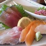 平野鮮魚 - 刺身定食(刺身)
