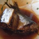 平野鮮魚 - 刺身定食(イワシの煮付け)