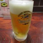 やまびこ - ドリンク写真:生ビール 500円 (2017.4)