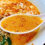 耳納 - 早速スープをお口にイン!・・ぬるい(-_-;)