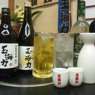 厳選された日本酒・焼酎